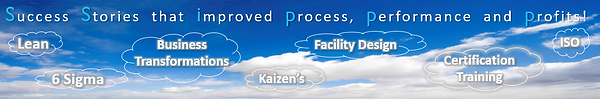 Lean Six Sigma Business Transformation Kaizen Facility Design Certification Training ISO