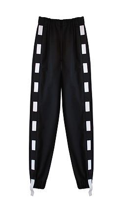 This Is The Uniform Black Elastic Strip Joggers