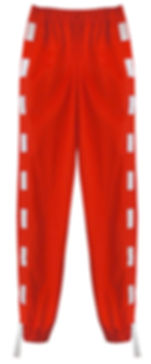 This Is The Uniform Red Elastic Strip Joggers