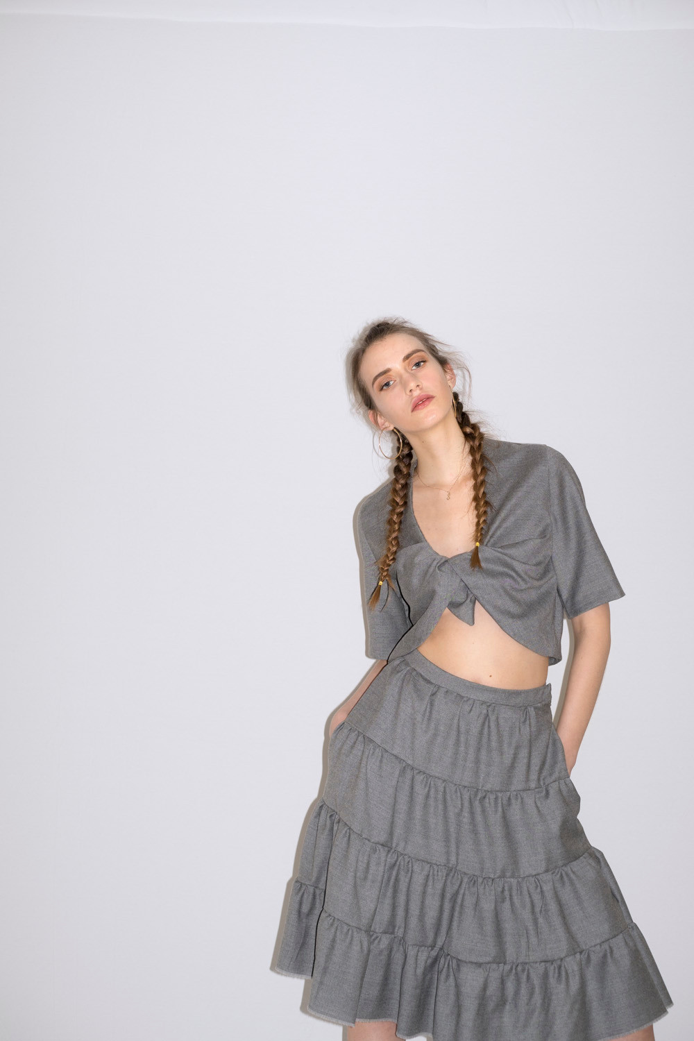 This Is The Uniform grey top and skirt