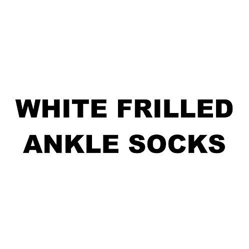 WHITE FRILLED ANKLE SOCKS