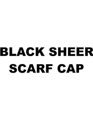 BLACK SHEER SCARF CAP