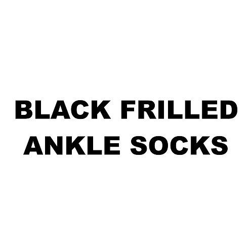 BLACK FRILLED ANKLE SOCKS
