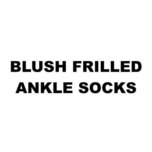 BLUSH FRILLED ANKLE SOCKS