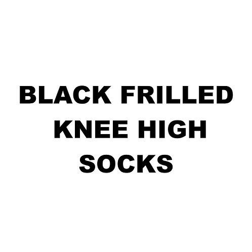 BLACK FRILLED KNEE HIGH SOCKS