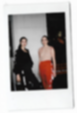 A polaroid picture of models wearing This Is The Uniform for pop up shop event