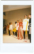 A polaroid picture of a group of models wearing This Is The Uniform at New York Fashion Week