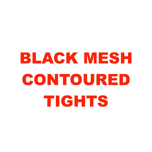 BLACK MESH CONTOURED TIGHTS