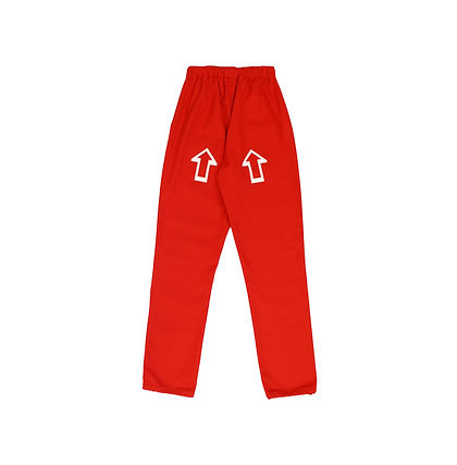 This Is The Uniform Red Hand Printed Arrow Joggers
