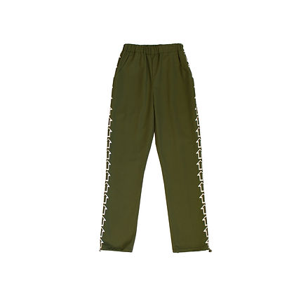 This Is The Uniform Khaki Hand Printed Arrow Joggers
