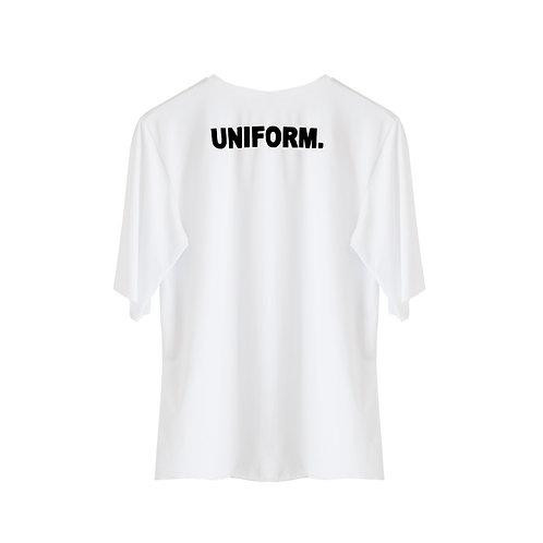 "HANDPRINTED ""UNIFORM"" BACK DETAIL TEE"
