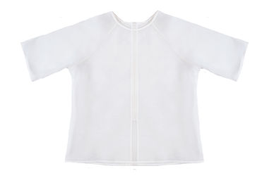 This Is The Uniform White Sheer Silk Organza Raglan Slim Fit Tee