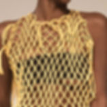 Hand Netted Rouleau Dress