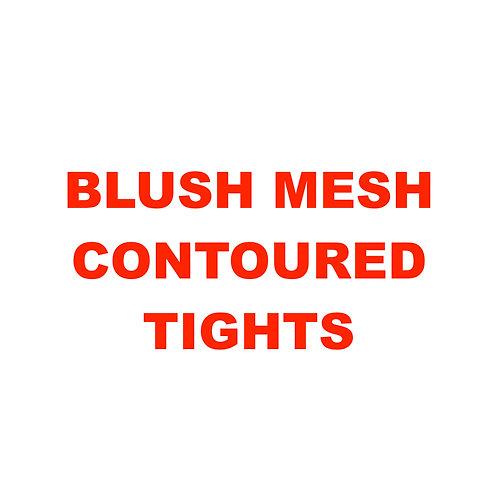 BLUSH MESH CONTOURED TIGHTS