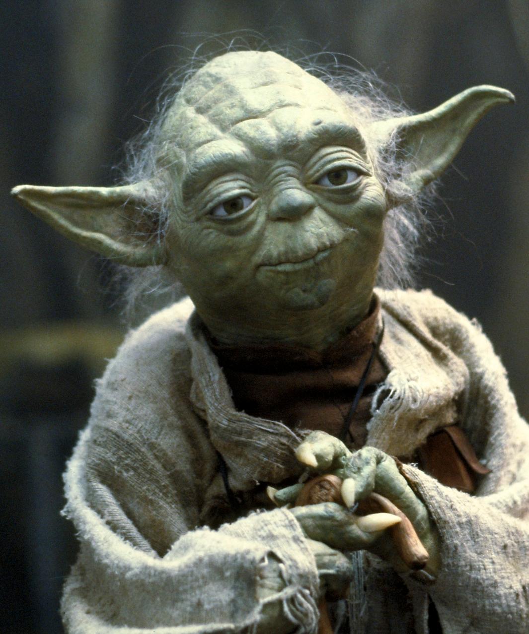 Mentor figure to Luke Skywalker in Star Wars.