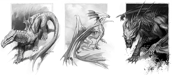 Todd Lockwood dragon illustrations