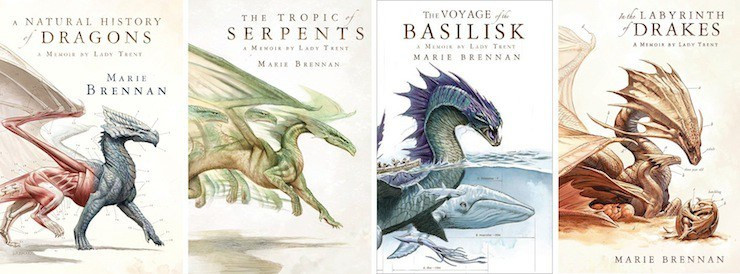 Memoirs by Lady Trent covers