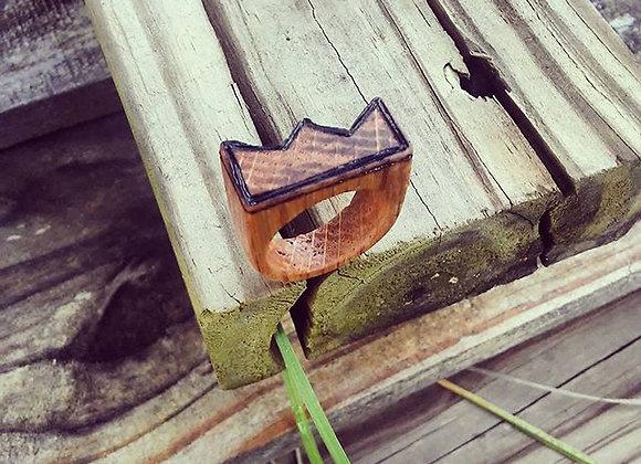 Burnt Oak Shaped Crown Ring