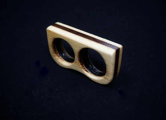 Black Walnut Stripe Bar Ring