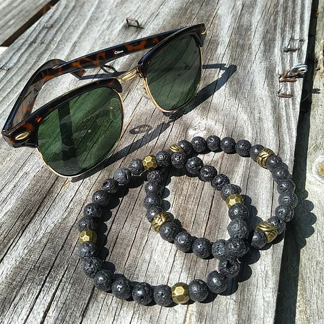 New Lava Rock bead bracelets
