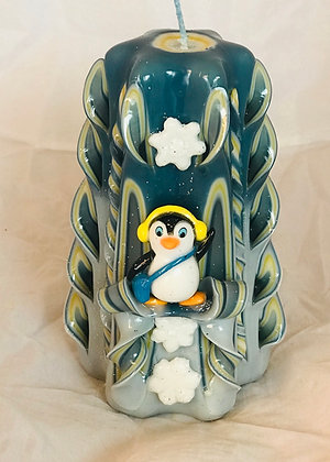 Penguin cute candle