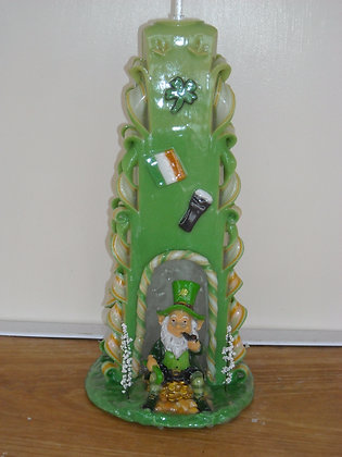 St Patricks Day Candle