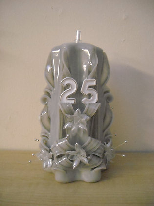 25th Silver Anniversary/Birthday Oil burning Candle 0012