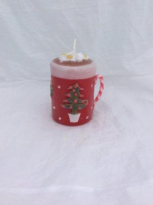 Christmas mug candle