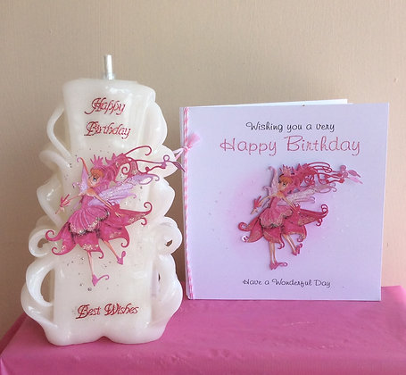 Personalised Candle & Card Set