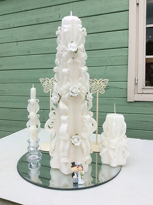 Large Carved Wedding Candle