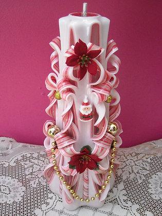 Christmas Poinsettia Candle