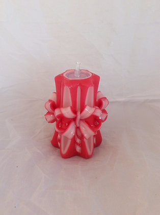 Red bow Valentines Candle