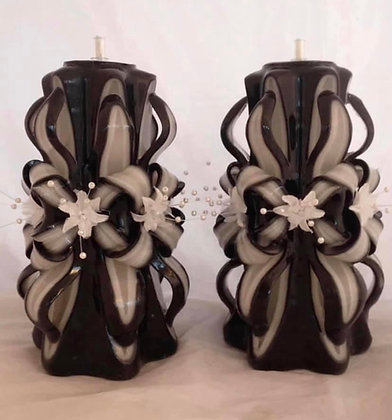 Black bow candles