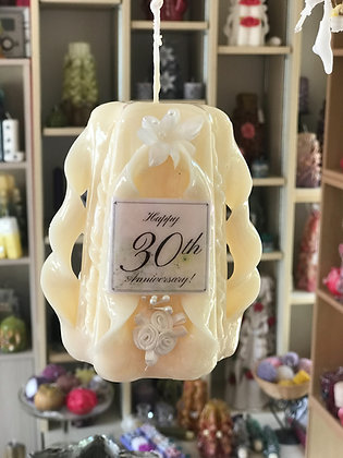 30th pearl Anniversary candle