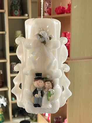 Bride & groom wedding candle