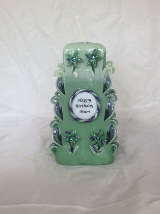 Personalised flower candle