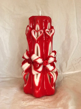 Heart valentines candle