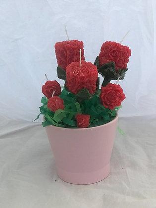Candle flower pots