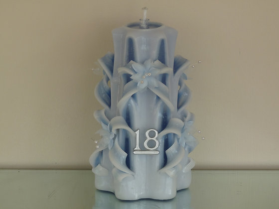18th Birthday Carved Candle