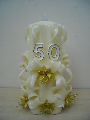 50th Pearl Wedding Anniversary/ birthday Oil burning Candle