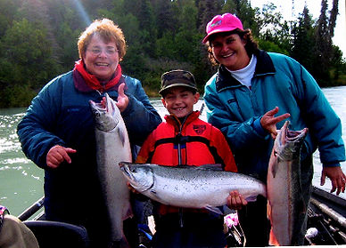 Alaska kenai river salmon guides and charters