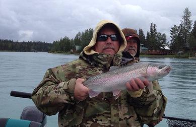 Kenai River rainbow trout fishing Alaska