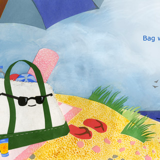"""""""Bag went to the beach"""""""