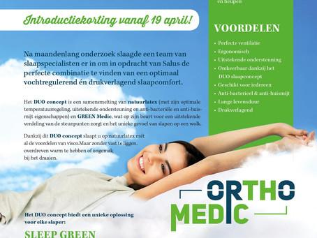 Slapen op een wolk .... ORTHO MEDIC vanaf nu beschikbaar in onze toonzaal
