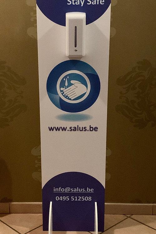 Desinfectie zuil met contactloos dispenser (met sensor) - Prijs incl. btw 21%