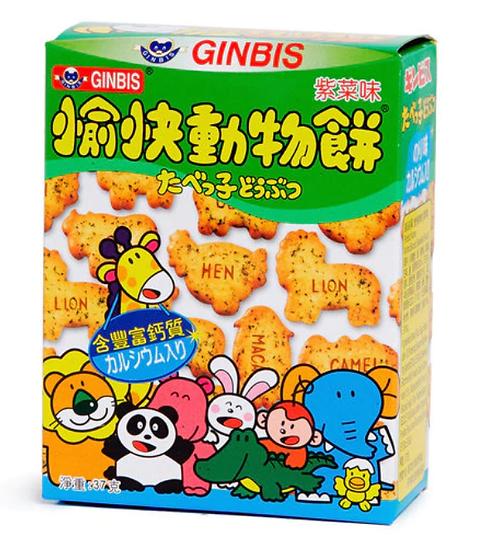 金必氏 愉快動物餅 紫菜味 37G