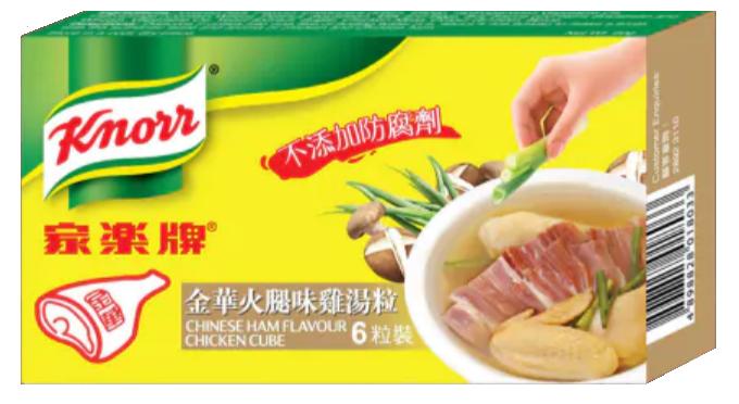家樂牌 金華火腿味雞湯粒 6粒裝