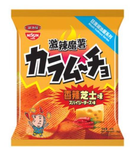 日清湖池屋 激辣魔薯香辣芝士味薯片 55G