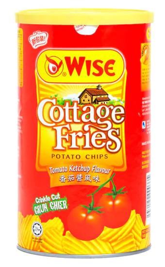 威士 蕃茄醬風味薯片罐裝 100G