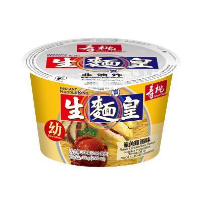 壽桃牌 鮑魚雞味生麵皇(幼) 75G